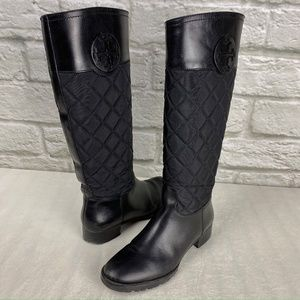 Tory Burch 'Rowan' Quilted Riding Boot